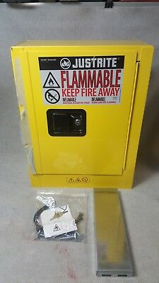New Justrite Flammable Safety Cabinet 890200 22X17X8 2-Gallon