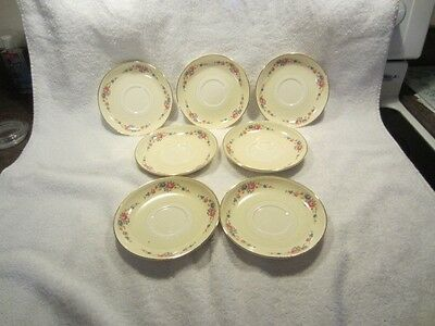 Homer Laughlin nautilus 6 7 inch saucers excellent