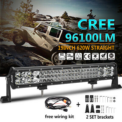 """CREE 8D+ 19inch 620W LED Work Light Bar Combo Beam Offroad Driving SUV 4X4WD 20"""""""