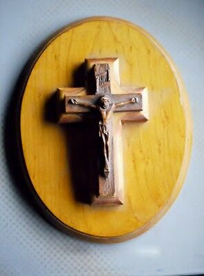 Maine State Prison Prisoner Inmate Hand Made Crucifix Vintage Cross Wood Unusual