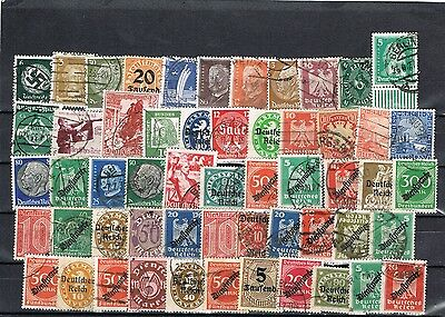Germany Stock Page Of Used Stamps