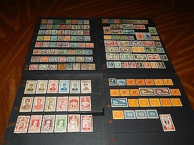 Indochina stamps - BIG lot of 149 mint hinged and used early stamps - super !!