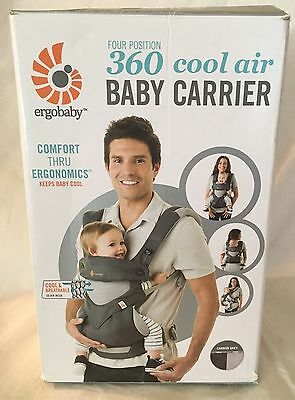 Ergobaby 360 4 Positions Baby Carrier Cool Air - Carbon Grey -NEW FREE SHIPPING