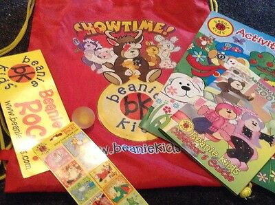 Beanie Kids bag, activity book, stickers, bouncy ball & collectors guide 2007