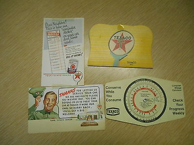 Vintage Lot Of Texaco Advertising Paper Items