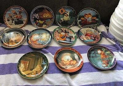 Danbury Mint 1978 Garfield Collectors  Plates .. 11 In All With/boxes..mint