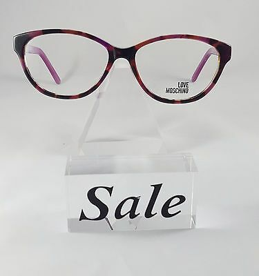 c7bf3cb42a New Love Moschino PURPLE TORTOISE Eyeglasses Rx Glasses ML088v02 54-15-135
