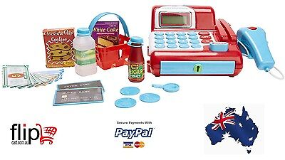 24 Play Accessories Pretend Cash Register Toy Kids Money Credit Card Scanner