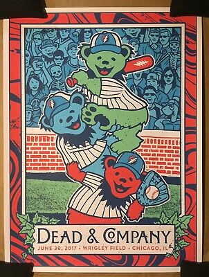 Dead & Company  Concert Poster Wrigley Chicago   SOLD OUT  6/30/17   AP