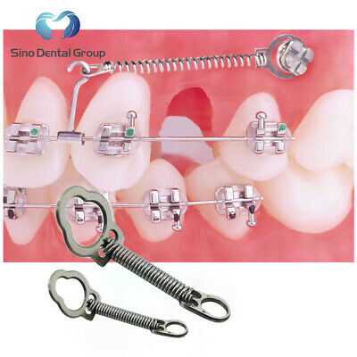 5 X Dental Orthodontic Nickel Titanium Closed Coil Springs with Eyelets  6mm