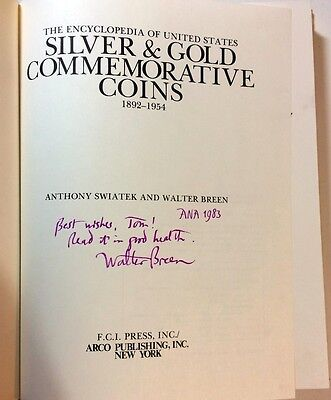 Signed by Swiatek and Breen Encyclopedia Silver & Gold Commemorative Coins 1981