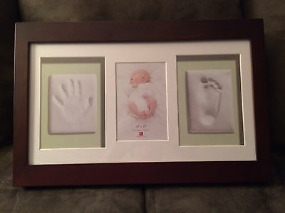 Baby Keepsake Photo Frame Handprint Footprint Kit
