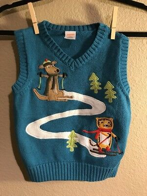 GYMBOREE Sz Boys 2T Winter Theme Sweater Vest
