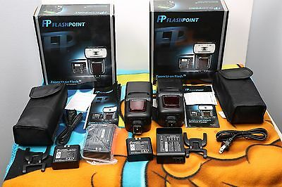 Flashpoint R2 Li-Ion  manual flash, Godox  V850II 2.4G 1/8000s HSS (Lot of 2)