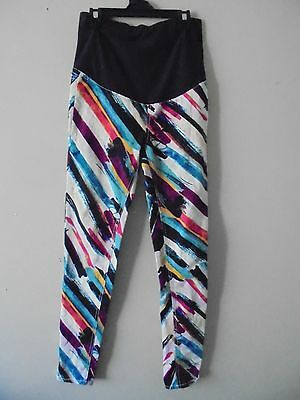 H & M MAMA  MATERNITY MULTI COLOURED STRETCH  PANTS  eur 38