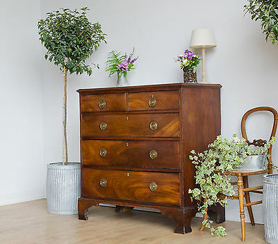 Antique Georgian Mahogany Chest of Drawers 2 over 3