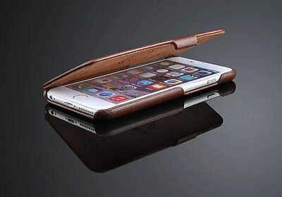 Genuine Leather Flip Case Cover For Apple Iphone 6 6S Plus 5.5 Inch Screen