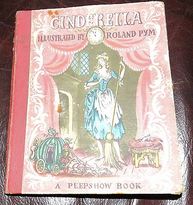 Vintage Children's Book Cinderella Illustrated by Roland Pym A Peepshow Book