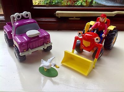 Tractor Tom Toy Figure - Tractor Tom & Rev Truck With Farmer Fi & Goose