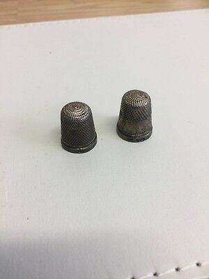 Vintage Solid Silver Thimble Size X2