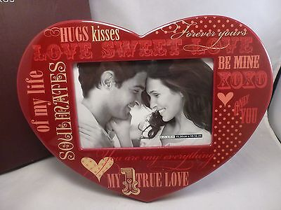 """RED  HEART   Papyrus Picture Frame NIB MINT 6 X 4"""" PHOTO HEART"""