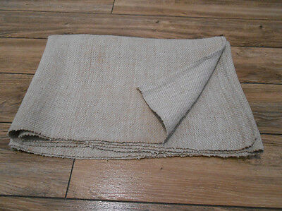 Antique Homespun Heavy LINEN Fabric real 19th Ukraine 0,6x2m Great Condition