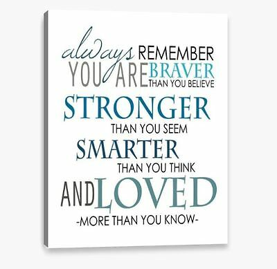New Canvas Wall Art Print Inspirational Quote Decor Repro Large Medium & Small