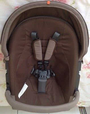 Stokke Brown Textiles For Xplory,crusi Trailz,x Display,good Condition.