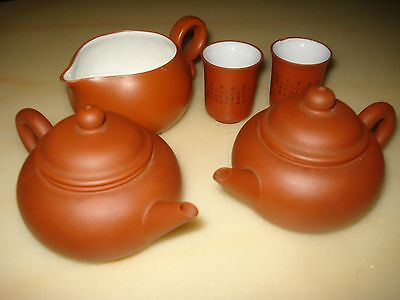 Oriental Clay Chinese Teapots & Other Items As Pictured, Stamped