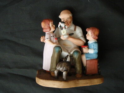 Norman Rockwell The Toy Maker 1982 Porcelain Figurine