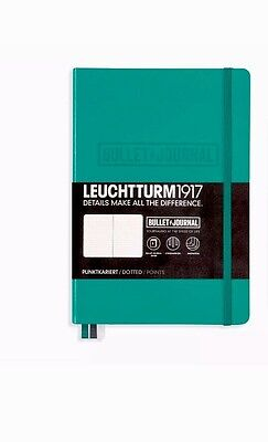 Leuchtturm1917 A5  Bullet Journal Notebook. Dotted Emerald Green