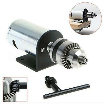 [NEW] DC 12-36V Lathe Press 555 Motor With Miniature Hand Drill Chuck and Mounti