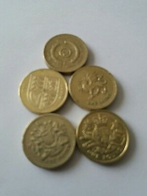 one pound coin all of them £9.50