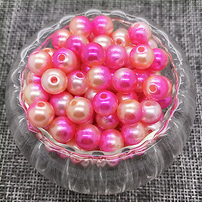 NEW 10MM 30PCS Round Pearl Spacer Loose Beads Colour Acrylic Jewelry Making #04