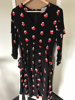 Asos Maternity Hearts Dress Size 8 As New!