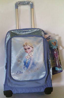Zaino Frozen Trolley Scuola Nuovo New Big Disney Originale By Accademia + Gadget
