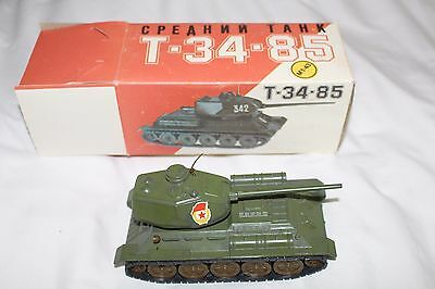 Vintage Military Reproduction Russian Tank T-34-85 1:43 Scale w/ Original Box!!!