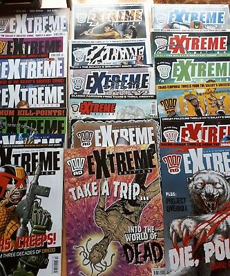 19 issues of 2000AD Extreme Edition