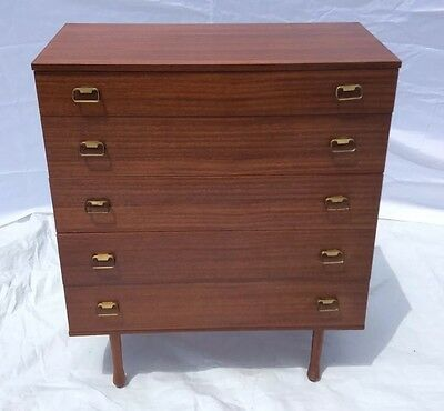 Vintage Retro Avalon Teak Chest of Drawers Mid Century Danish Style