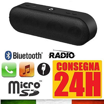 Cassa Portatile Radio Fm Sd Usb Bluetooth Mp3 Smartphone Speaker 7 Ore Autonomia