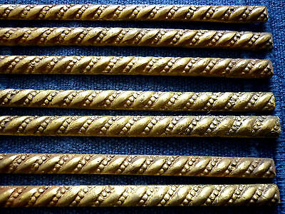 8 Cast Brass Rope Twist Edging Strips / Furniture Embellishers For Restorers Etc