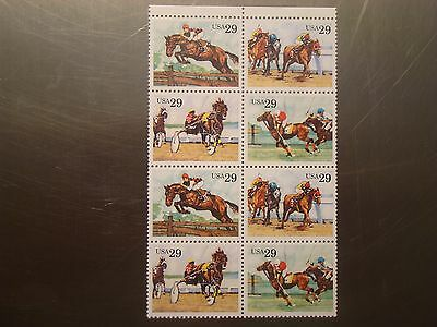 Sports Horses 1992 Partial Mint Sheet of 8 U.S. Postage Stamps