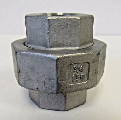 """New Lot of 10 PCS ¾"""" FNPT Union 304 Stainless Steel Class 150"""