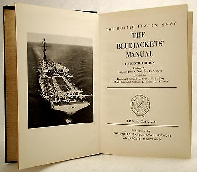 TOP VINTAGE THE BLUE JACKETS' MANUAL 15th EDITION 1957 U.S. NAVAL INSTITUTE