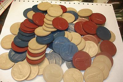 casino chips for play cards or others , vintage game chips ,many items,