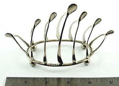 Antique English Small Sized Sterling Silver Wishbone Toast Rack c. 1904-05