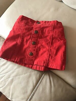 Red Old Navy Skirt 18-24 months NEVER WORN baby toddler
