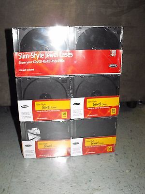 Lot of 3 NIP 100 Belkin Slim-Style Jewel Cases for CDs DVDs CD-Rs Storage NEW