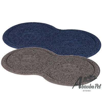 Trixie non-slip Place Mat for Dog and cat bowls up to ø 21 cm Grey or Dark Blue