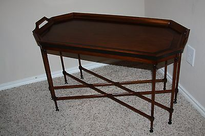 Tomlinson Inlaid Neoclassical Style Tray Table - 8 leg/sided with handles
